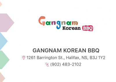 Gangnam Korean Retaurant Business Card